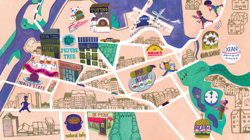 Map Of New York Restaurants.Vegan Restaurants In Queens New York Edible Queens