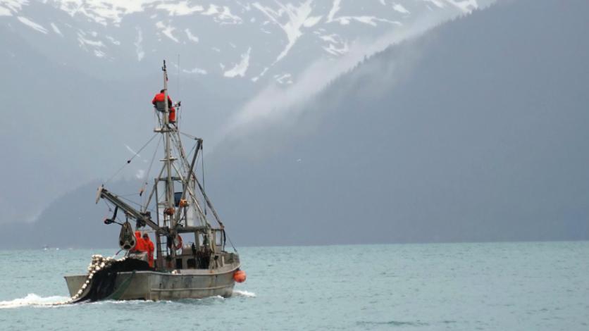 A fishing boat off the coast of Resurrection Bay in Alaska.
