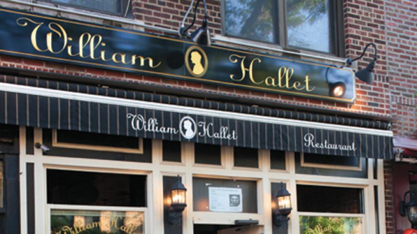 William Hallet restaurant in Astoria, Queens.