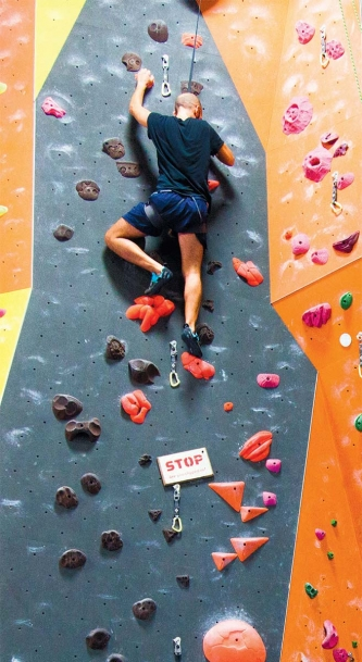 A Strenuous Workout On The Wall At The Cliffs In Long Island City