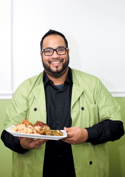 Chef Albert Teekasingh of Tropical Review in Flushing Queens New York.