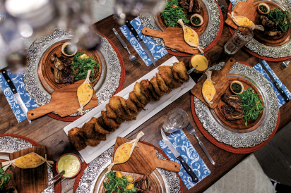A sumptuous Argentinian feast made by Mirta Rinaldi's students gets its moment in front of the camera.