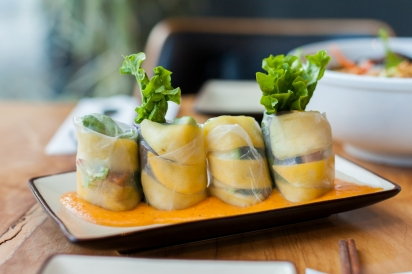 The pickled mango summer rolls at District Saigon in Astoria, Queens.