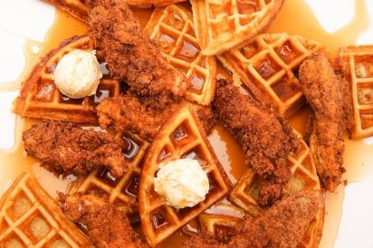 The Citi Field outpost of chicken and waffles purveyor Lil' Sweet Chick (co-owned by legendary rapper Nas) is the brand's first Queens location.