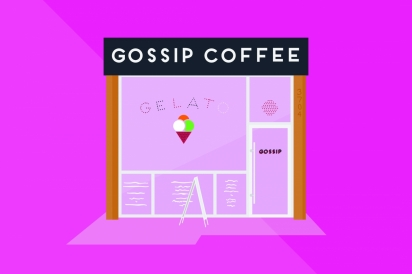 Gossip Coffee in Astoria, Queens.