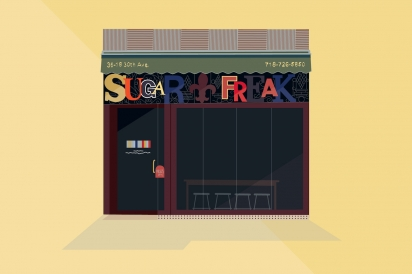 Sugar Freak offer New Orleans and Cajun cuisine in Long Island City, Queens.