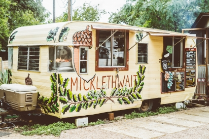 Micklethwait Craft Meats barbecue food truck in Austin, Texas.