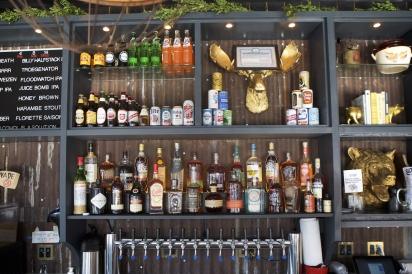 Behind the bar at Salt & Bone in Astoria.