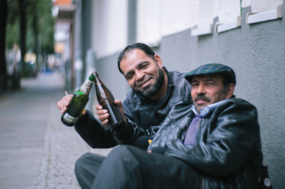 In Berlin, bottle hunters earn eight cents per bottle.