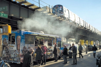 King Souvlaki under the El at 31st St and 31st Ave