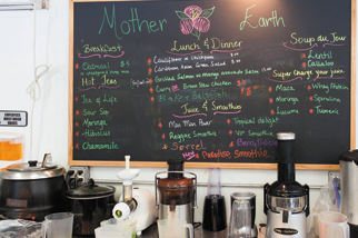 Mother Earth cafe serving health food in Forest Hills Queens.