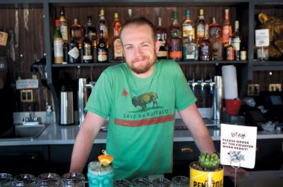 Cocktail master at Salt & Bone in Astoria, Bobby Boddell.