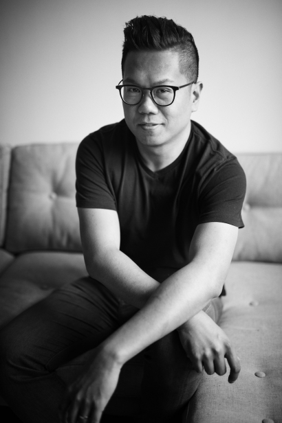 Chef Thomas Chen of Tuome in his home in Queens.