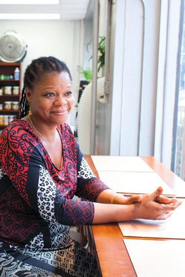Mother Earth's owner Simone Lord Marcelle in Forest Hills, Queens.