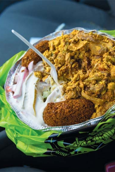 an Omar Platter from the King of Falafel