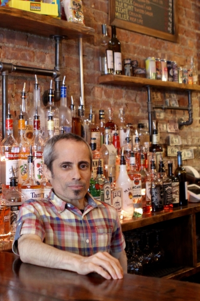 Kris Medina, the co-­owner of Solid State, has created a bar after his two passions: pinball and beer.