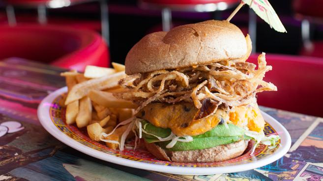 Flattopps burgers in Astoria Queens.