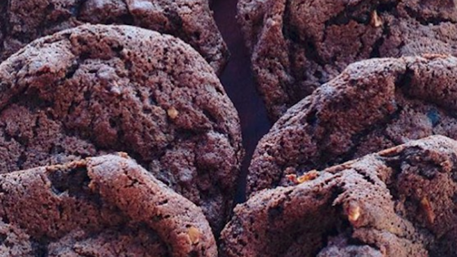 Dark Chocolate Buckwheat Cookies by cookbook author Sarah Owens