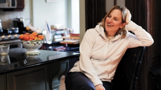 The Queens Borough President, Melinda Katz, is raising her two sons in the same Forest Hills home that she grew up in.
