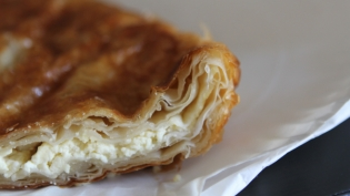 A cheese burek from Ukus, in Astoria, is in demand for takeout.