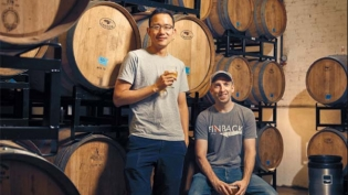 Finback Brewery's Basil Lee and Kevin Stafford at their brewery in Glendale.