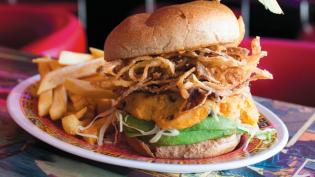 A Vegan burger at Flattopps in Astoria.